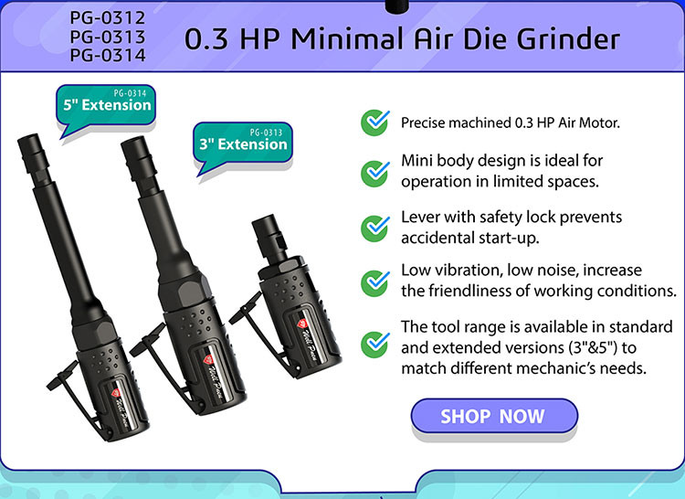 0.3 HP Minimal Air Die Grinder